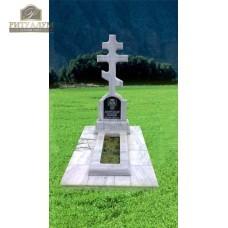 Памятник из мрамора - Крест   PM0004 — ritualum.ru